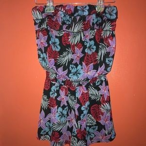Floral Strapless Romper Size S